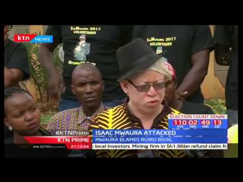 Nominated MP Isaac Mwaura accuses his opponent Simon King'ara of using goons to attack him