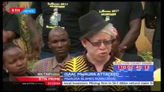 Nominated MP Isaac Mwaura accuses his opponent Simon King'ara of using goons to attack him