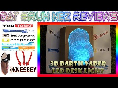 3D DARTH VADER OPTICAL ILLUSION LED DESK LIGHT