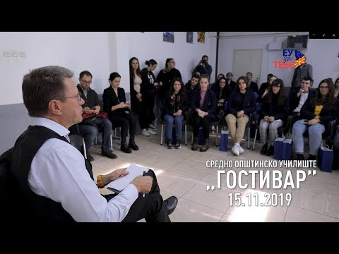 Student debate and clean up action in Gostivar 15.11.2019