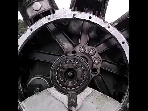 Inside a Prop Plane Engine