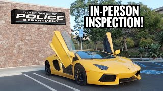 illegal Lamborghini Aventador tries to get Registered in California....