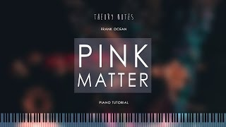 How to Play Frank Ocean - Pink Matter   Theory Notes Piano Tutorial