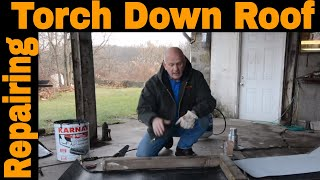 Flat Roof Repair   How To Make A Repair On A Torch Down Rubber Roof