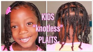 "KIDS' ""Knotless"" BRAIDS/PLAITS DIY | NO Weave | NATURAL HAIR"