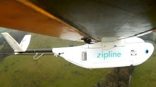 Zipline drones airdrop medical supplies to African villages