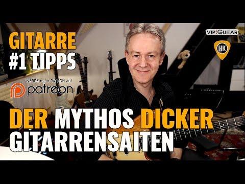 Der Mythos dicker Gitarrensaiten - Gitarren Hacks #1 Tipps