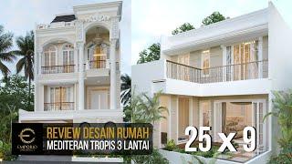 Video Desain Rumah Mediteran 3 Lantai Bapak Aman di  Jakarta Barat