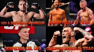UFC Khabib destruirá a Conor McGregor, TJ Dillashaw y su pelea con DJ, Barnett   UFC en español