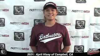 2021 April Hisey Pitcher Softball Skills Video - Batbusters