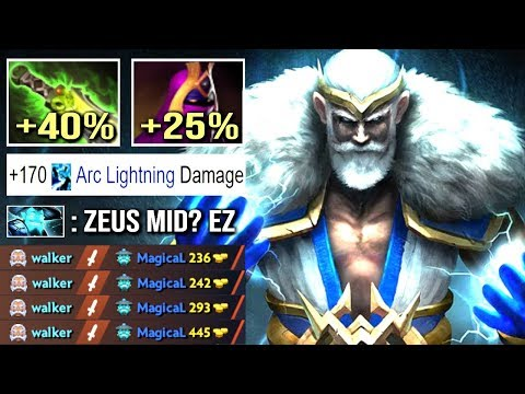EPIC Shit 500 Damage Arc Zeus vs Hard Counter Storm Mid Crazy Top MMR Gameplay Dota 2