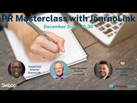 Webinar Recording: PR Masterclass with JournoLink