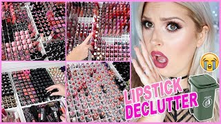 1000+ Lipsticks! 🔪😱 ORGANIZE AND DECLUTTER MY MAKEUP COLLECTION! 😏 - Video Youtube