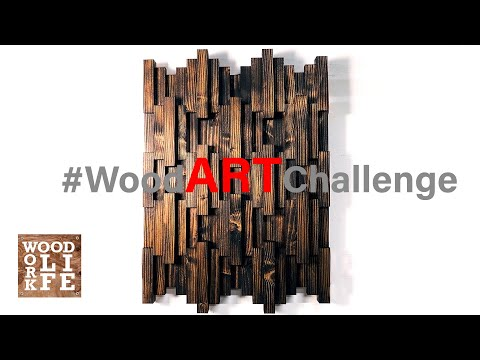 DIY Wooden Wall Art using JUST TWO 2 x 6s – #WoodARTChallenge | Builds