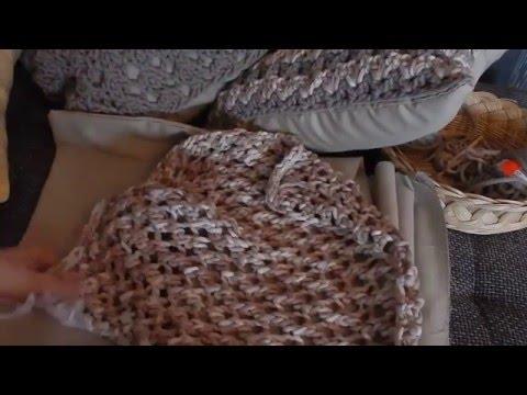 Dekokissen 45x45 stricken und haekeln