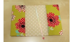 DIY 簡単ブックカバーの作り方(文庫本)easy Book Cover Tutorial