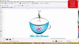 Corel Draw X8 Tutorials - Simple Logo Designing