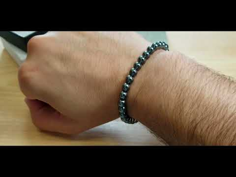 6mm Hematite Stretch Bead Bracelet Review – TheSteelShop.com