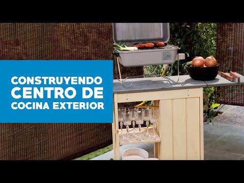 ¿Cómo construir un centro de cocina exterior?
