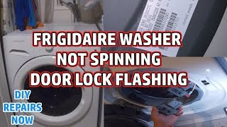 How to Fix #Frigidaire #Washer Door Lock Light Flashing | Washer Not Spinning | FFFW5000QW0