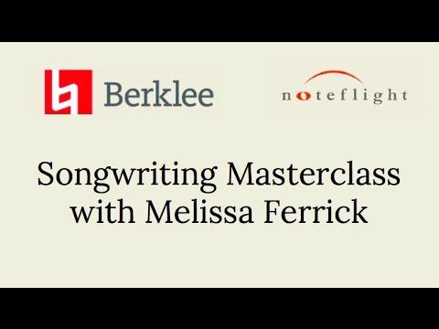 Noteflight/Berklee Online Songwriting Masterclass with Melissa Ferrick
