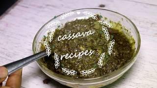 cassava leaves recipe (hako bantara) – sauce feuilles de manioc