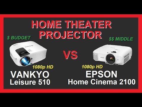 Home Theater Projector Review | Vankyo Leisure 510 vs Epson Home Cinema 2100 | 1080p HD | Compare