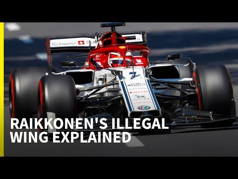 Image: Watch: The complex explanation behind Kimi Raikkonen's illegal front wing
