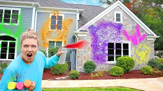 3 MARKER SPLATTER PAINT THE HOUSE CHALLENGE (Winner Gets GOLD TREASURE)