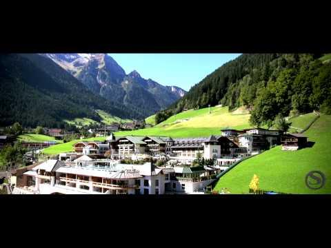 STOCK resort, Finkenberg, Zillertal, Tirol aus der Vogelperspektive