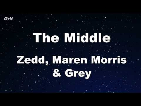 The Middle - Zedd, Maren Morris, Grey Karaoke 【With Guide Melody】 Instrumental Mp3