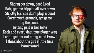 Ed Sheeran - No Diggity (Lyrics)