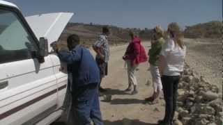 Driving from Mekele to Danakil Desert camping