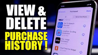How To VIEW & DELETE iPhone / App Store Purchase History !