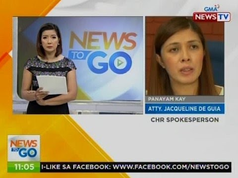 NTG: Panayam kay Atty. Jacqueline De Guia, CHR spokesperson