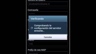Configurar correo IMAP en Android