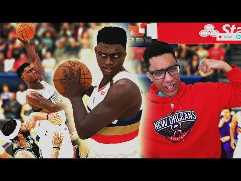 Pelicans Fan Plays As The REAL Zion Williamson For The First Time In 2k History...