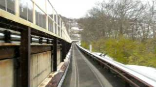Ride Morgantown Personal Rapid Transit system. Morgantown PRT route on