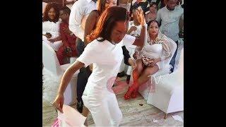 """Mercy Aigbe's Daughter Dance """"Shaku Shaku""""As Big Men Sprays Her Money At Her Mum's 40th Birthday"""