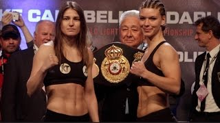 Katie Taylor weighing in She's looking fit and focused
