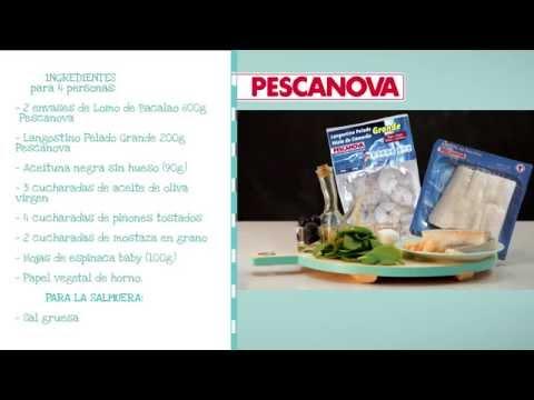 Cómo se hace la receta de Ensalada de Bacalao, Langostino, Hojas de Espinacas y Aliño de Mostaza