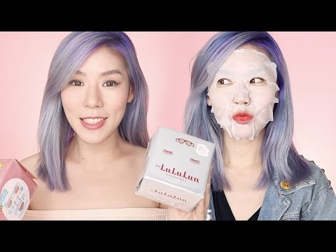 LULULUN Face Mask Review - Pink, Blue & White