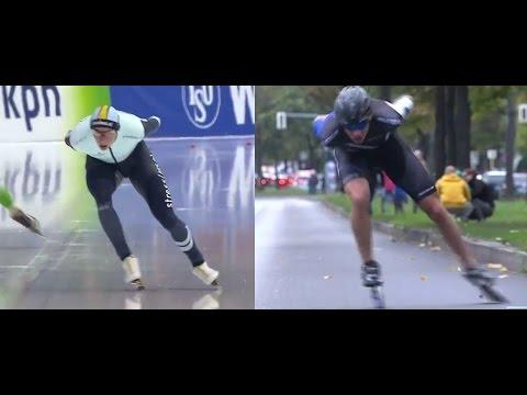 Bart Swings ice & inline speedskating comparison