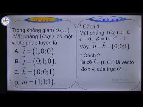 Toán 12 - Luyện tập phương trình mặt phẳng