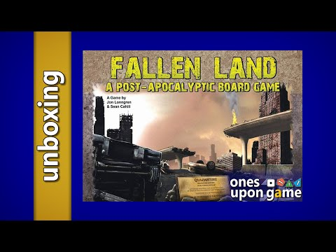 Fallen Land: A Post-Apocalyptic Board Game || unboxing by ones upon a game