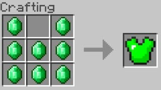 How To Craft Emerald Armor in Minecraft (New Crafting Ideas)
