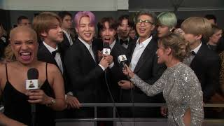 BTS Red Carpet Interview | 2019 GRAMMYs