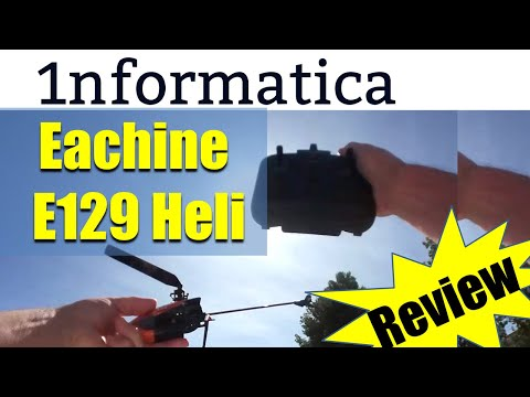 Eachine E129 4CH 6 Axis Gyro Altitude Hold Flybarless RC Helicopter RTF Flight Review
