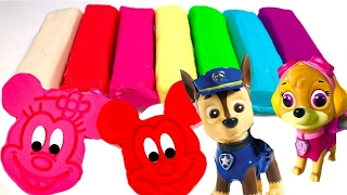 Best Learning Colors Video for Children -  Paw Patrol & Mickey Mouse Play Doh Surprises