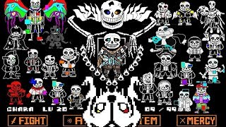 EVERY AU SANS IN ONE BATTLE | Ultimate Ink Sans Fight [Phase 1]